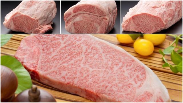 尾崎牛のステーキ肉画像