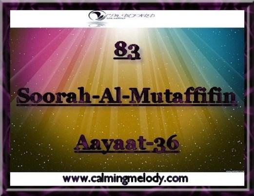83-Soorah-Al-Mutaffifin-Aayaat-36
