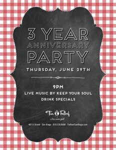 Tin Roof Turns 3 @ Tin Roof San Diego | San Diego | CA | United States