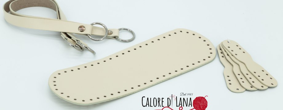 Set borsa - Manici e fondi borse - Calore di Lana www.caloredilana.com