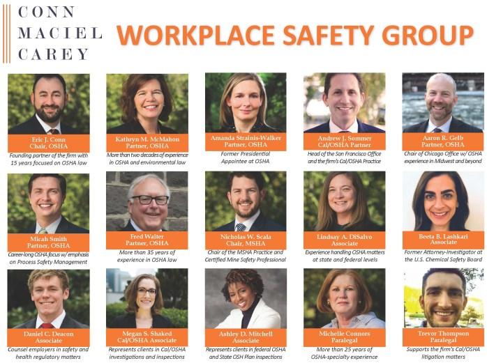 OSHA Workplace Safety Group Page 2020 II
