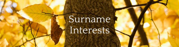 Surname Interests