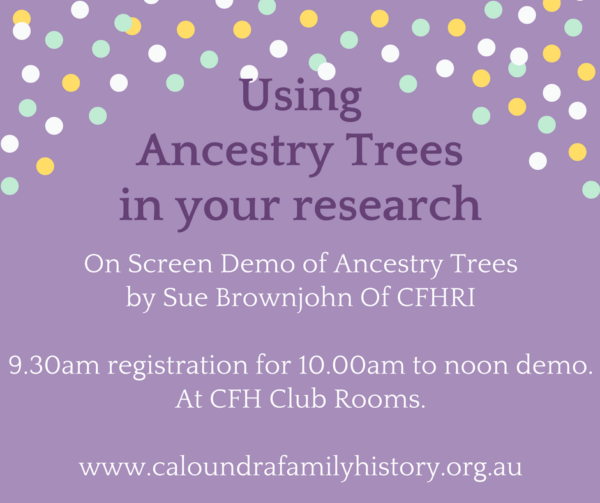 On Screen Demo of using Ancestry Trees in your research