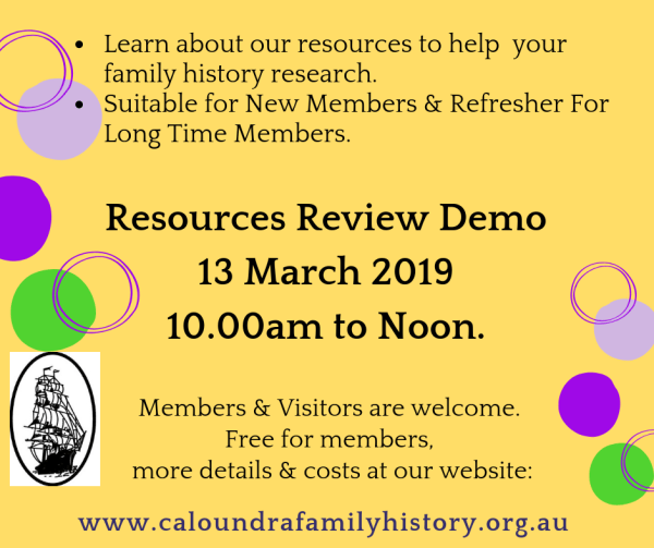 Resources Demo 13 March 2019
