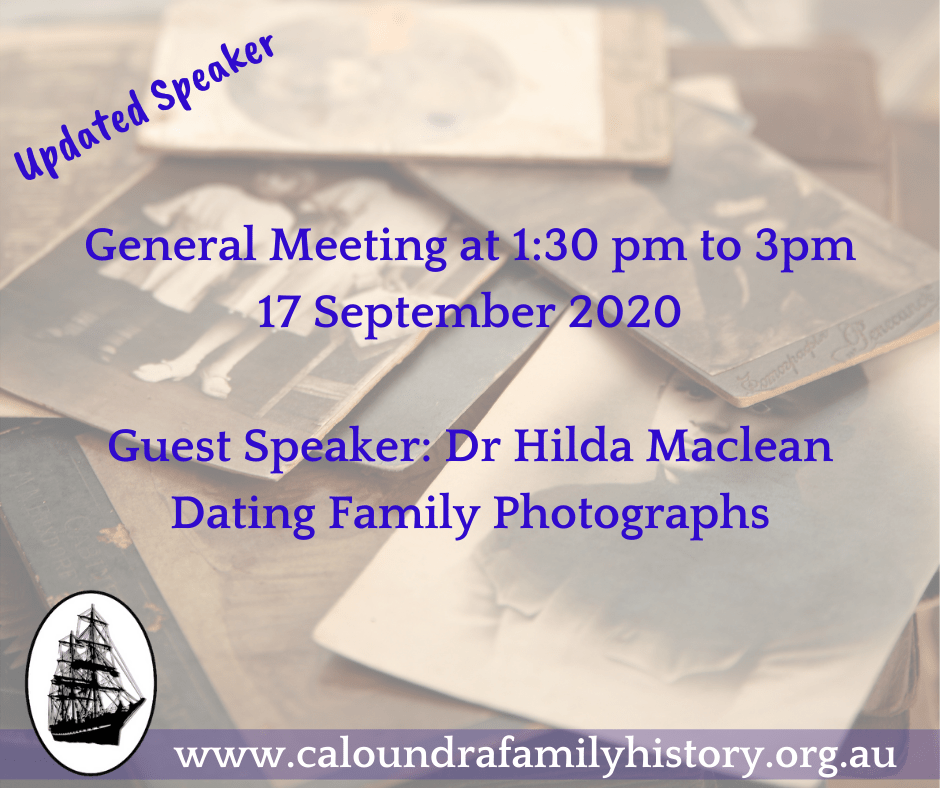 Dr Hilda Maclean: Dating Family Photos Talk
