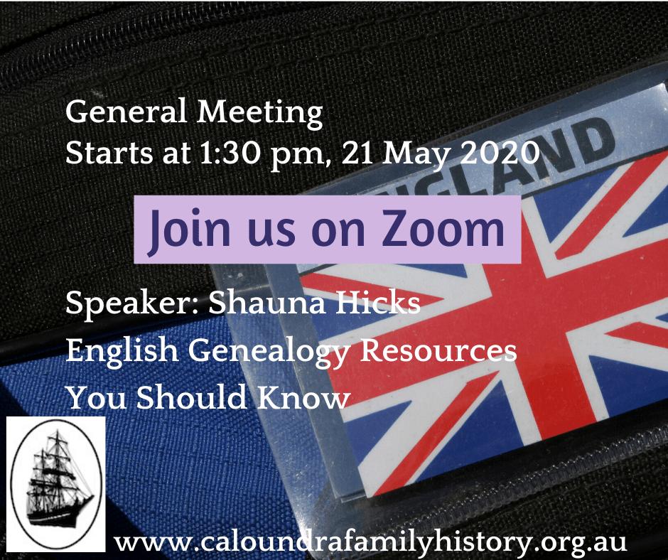 Shauna Hicks at General Meeting 21 MAy 2020