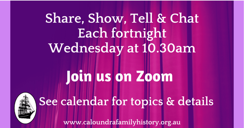 Share, Show, Tell & Chat via Zoom