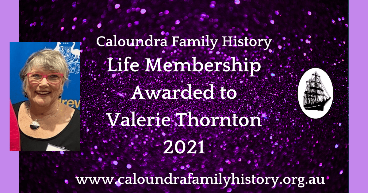 Valerie Thornton Awarded Life Membership
