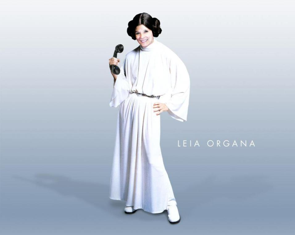 Pam'Leia' Sleigh - although she does look like a Julie Walters Character