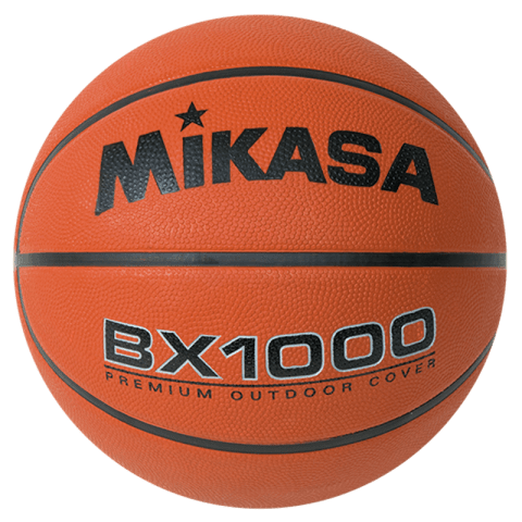 """MIKASA OFFICIAL SIZE RUBBER BASKETBALL 29.5"""" BX1000"""