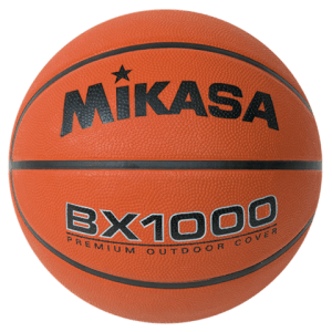 "MIKASA OFFICIAL SIZE RUBBER BASKETBALL 29.5"" BX1000"