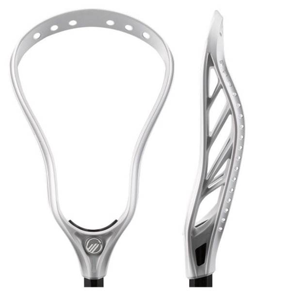Entering Maverik's head line way back in 2016 was the Maverik Tank U Unstrung Lacrosse Head, but don't let age fool you, the Tank U has asserted itself as one of the top defensive heads on the market. Designed for power and agility, the Tank U will deliver fierce checks and scoop ground balls with ease. Toted as the ultimate defensive machine, the Tank U not only brings the thunder on your checks, but also offers a wide face, perfect for intercepting passes and disrupting your opponent. Two screw holes offer added head security, eliminating the threat of head rattle. Maverik's 4-Strut Design in the Tank U is built for maximum stiffness and rail support to help land poke checks without having to worry about the head bending or warping. Built with a Level 5 Bottom Rail designed for a high pocket, the Tank U delivers instant control off the ground ball, channeling the ball directly into the pocket first time, every time. However, multiple stringing holes allow for custom pocket options to truly adjust your gear to fit your game. If you're a punishing defender looking for a head that can match your strength and intensity, the Maverik Tank U Unstrung Lacrosse Head is the one for you.