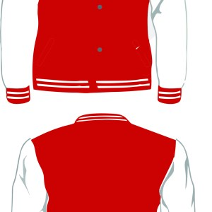 BANNING LETTERMAN WHITE-RED