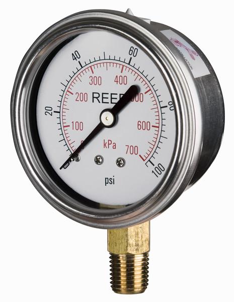 Reed AVNC/ AHNC Series Glycerine Filled Pressure Gauge