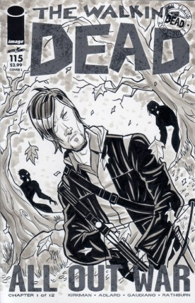 Daryl Dixon Walking Dead Sketch Cover