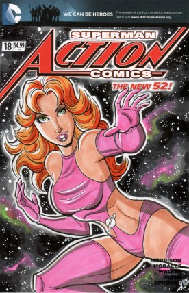 Saturn Girl Sketch Cover