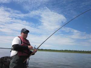 Fishing on the Nushagak River in the Bristol Bay area. (BRIAN LULL)