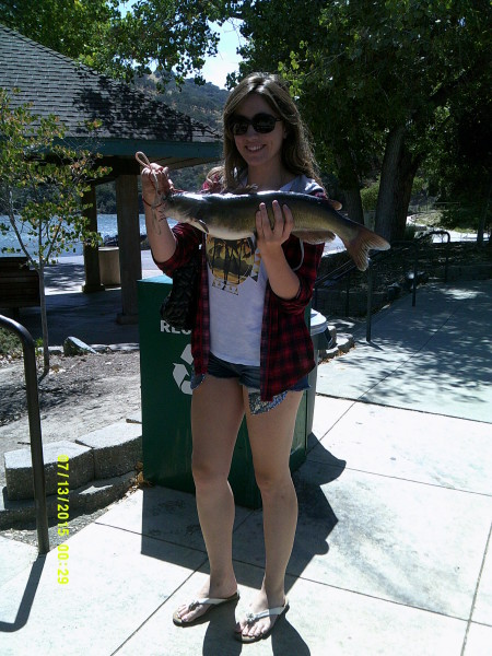 Molly Mallory landed this 5-pound catfish at Lake Del Valle.
