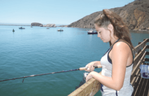 Alyssa Hovey fishing