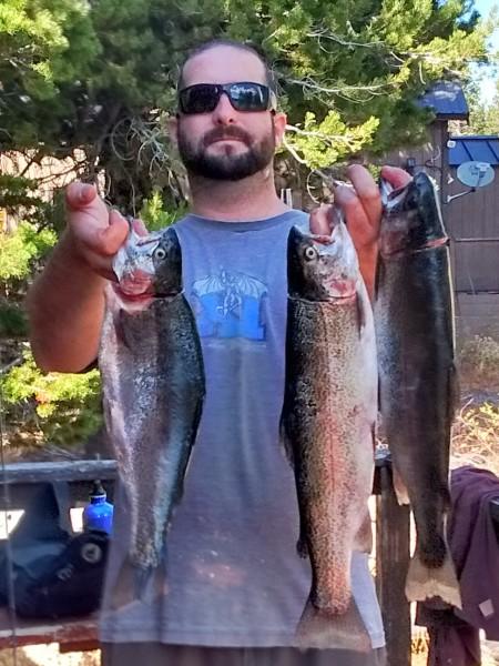Kurt Gaare with a nice haul of Caples Lake trout. (Caples Lake Resort)