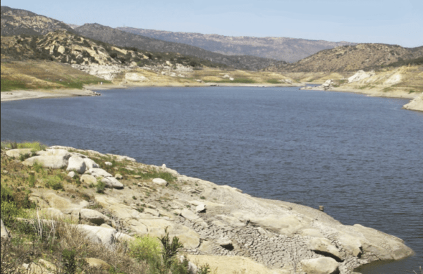 California's drought has wreaked havoc on the surface area of popular San Diego bass ?shery Lake Barrett, which is about one-third of its normal capacity. But a lot of bass are still swimming in the lake, so for the next month ?shing could be strong. (BILL SCHAEFER)