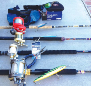Various rods and reels