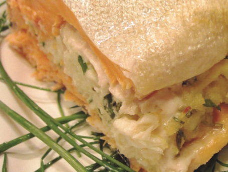 crab-stuffed steelhead