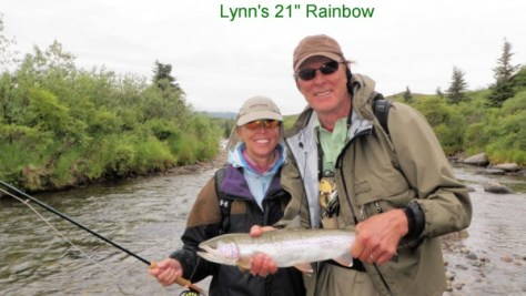 Rick Barry (right, with his wife, Lynn) has become a passionate fly angler.