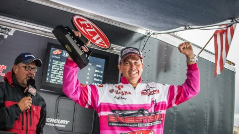 Celebrating after a successful FLW tournament. (CURTIS NIEDERMIER/FLW)