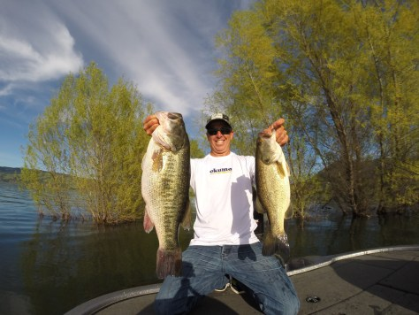 """You read about the bass in the teens and all the opportunities to catch giant fish. I was like, 'Whoa, this is right here? This is a great place to fish,'"" Kline says of California's bass fishing like Clear Lake, where he pried these beauties out of. (TODD KLINE)"