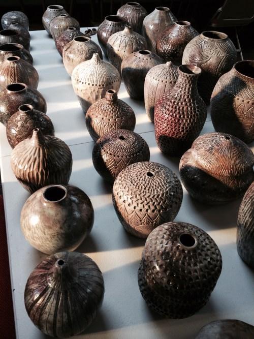 Ed's pit fired pots Dec 2014 - 3