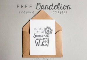 dandelion free SVG PNG
