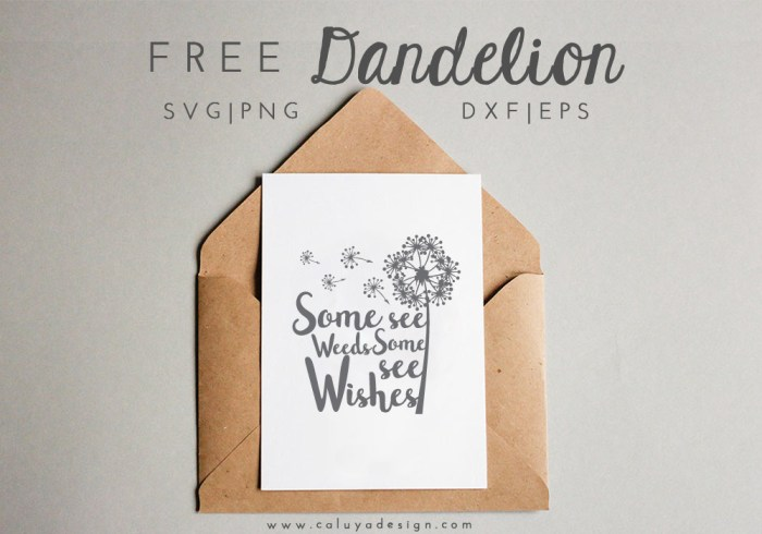 Free Dandelion SVG
