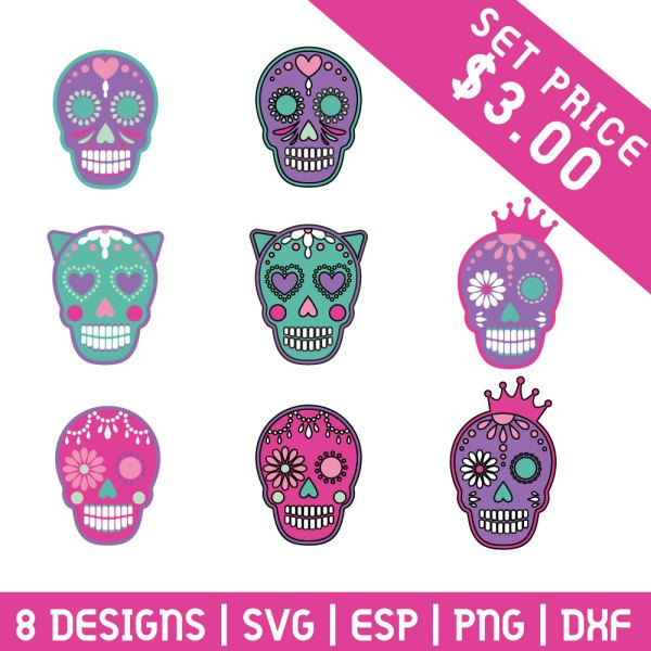 Sugar Skull SVG Set