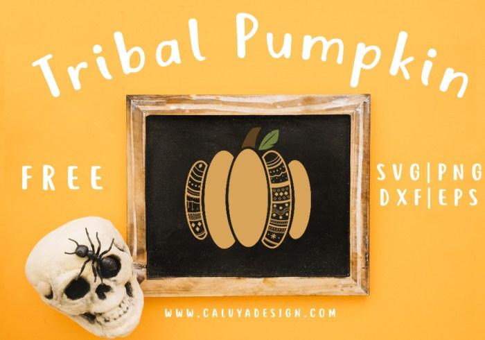 Tribal Pumpkin Free SVG