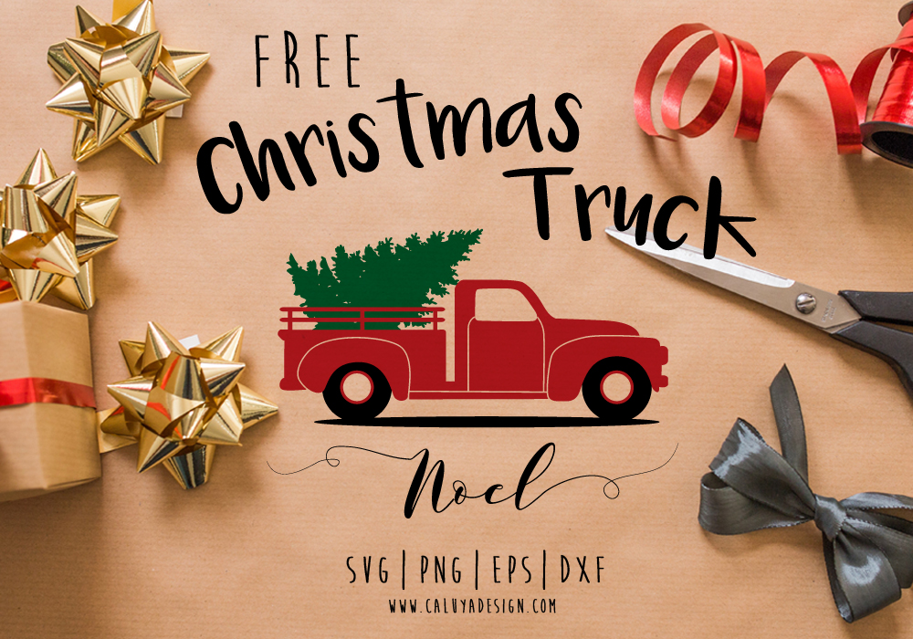 Download Old Truck Christmas Tree Free SVG, PNG, EPS & DXF Download