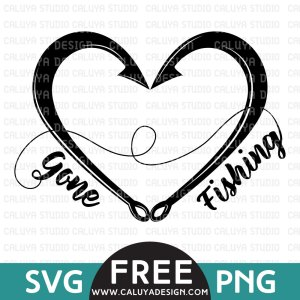 Gone Fishing Free SVG