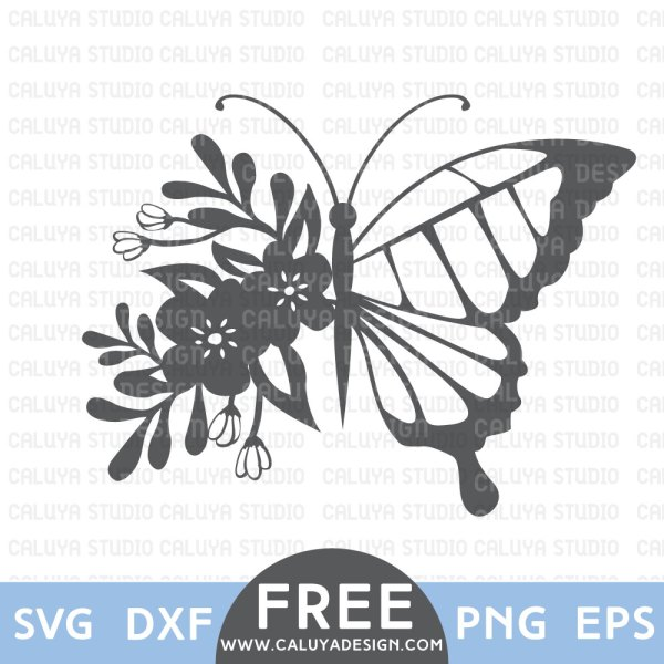 Flower Butterfly Free Svg Png Eps Amp Dxf Download By