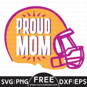 football proud mom free SVG
