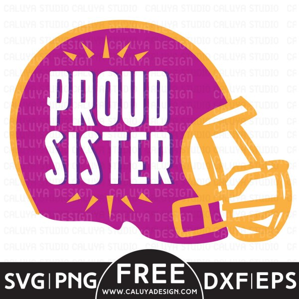 Football Sister Free SVG