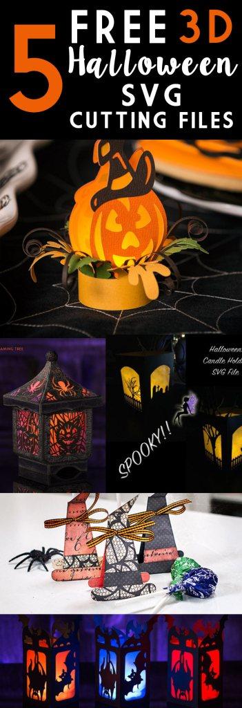 5 Free 3D Halloween SVG Cutting Files