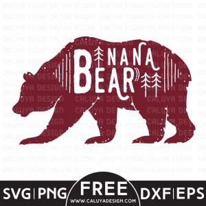 Nana Bear Free SVG
