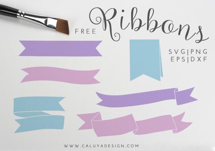 Ribbon Bundle Free SVG