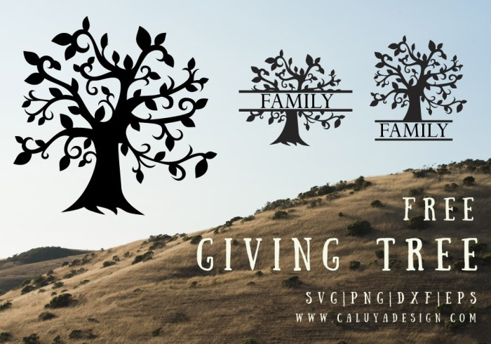 Giving Tree Free SVG