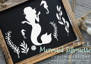mermaid silhouette free SVG