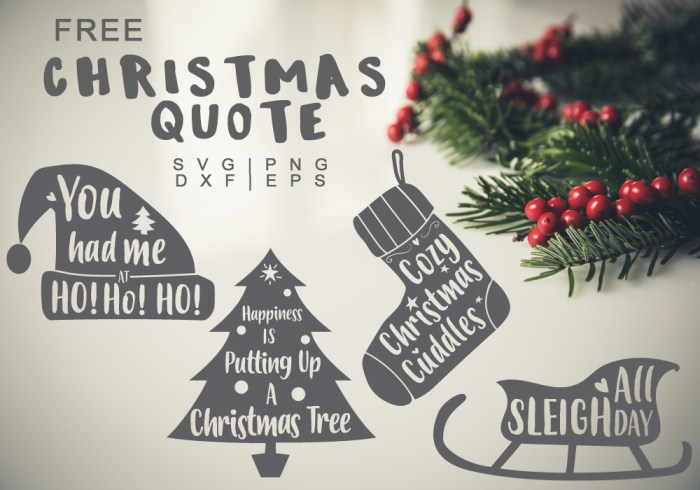 Christmas Quote Free SVG