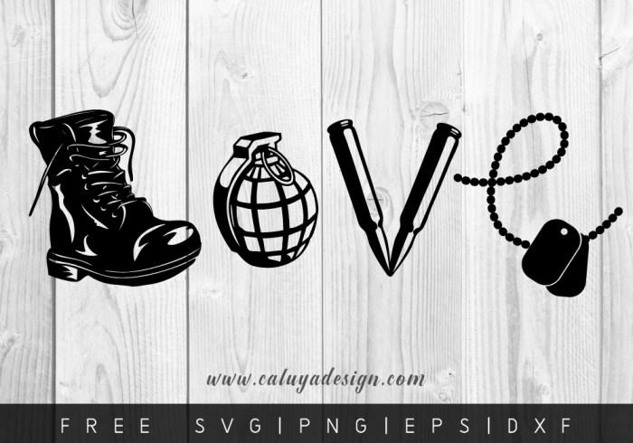 FREE love army SVG