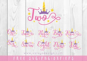 Unicorn Number FREE SVG