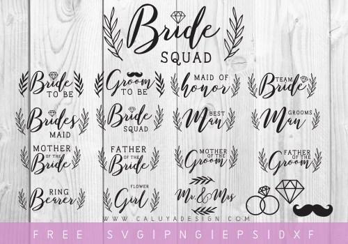 Free Wedding SVG Cut file bundle
