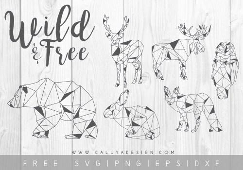 free minimal animal SVG cut file